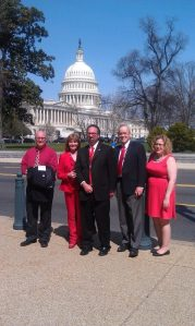"MN Delegation: (from left to right) Mark Olson, Vicki Rivkin, Robert ""Bobby Z"" Rivkin, Dr. John Wheeler, AmandaJean B."