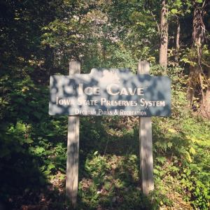 Ice cave sign